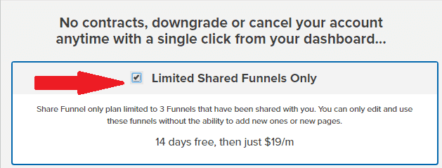 Limited Share Funnel Plan