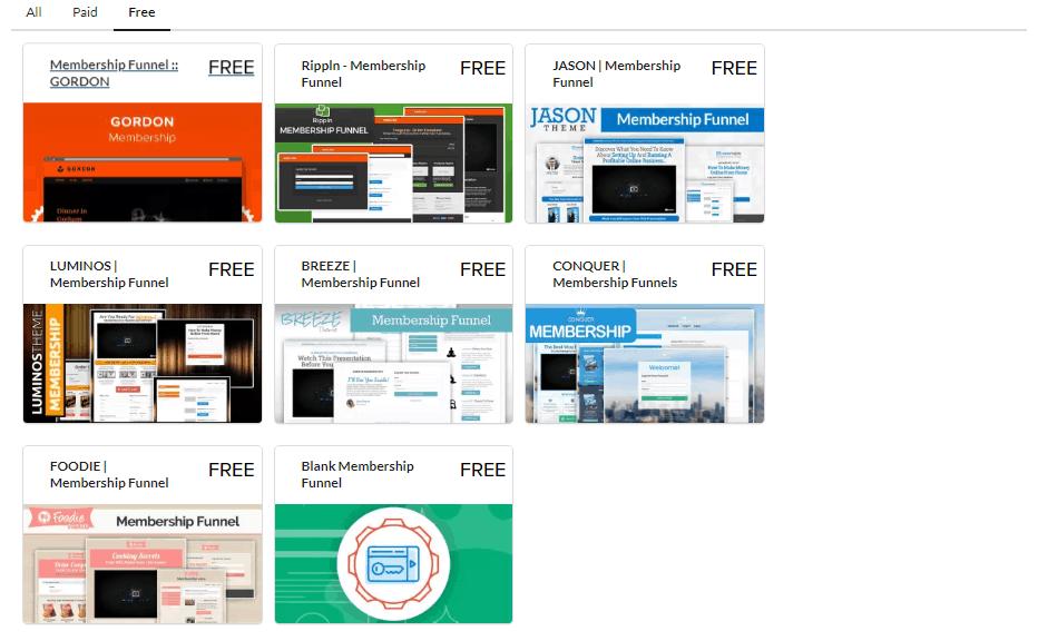 Free Membership Site Templates
