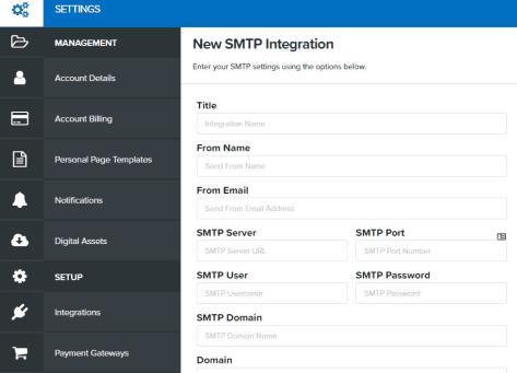 ClickFunnels New SMTP Integration