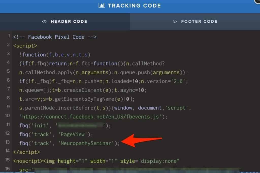 Facebook Pixel Tracking Code