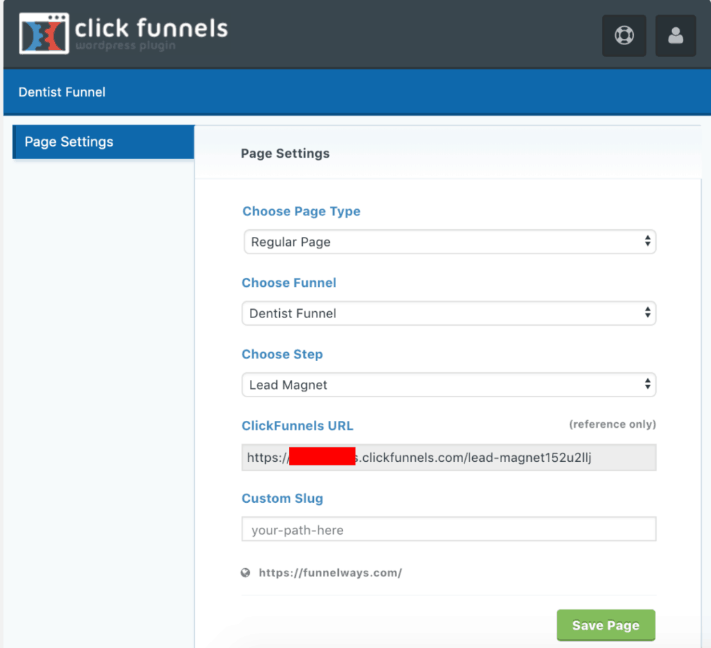 ClickFunnels Page Settings
