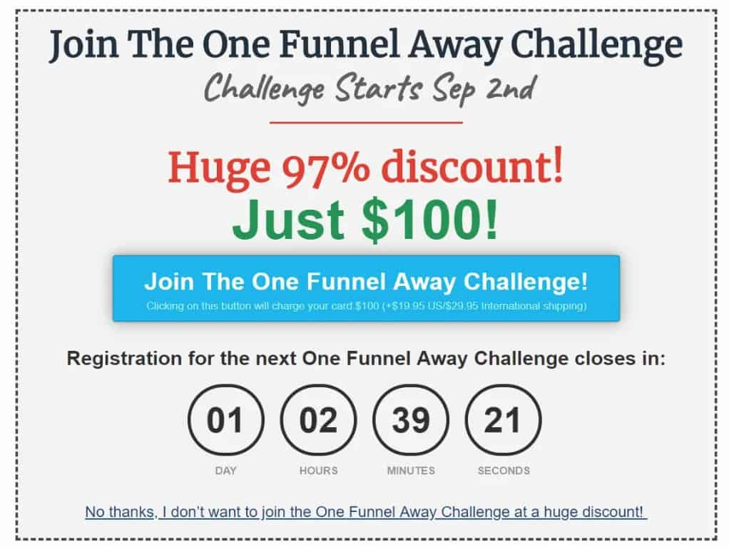 Lead Funnels Upsell