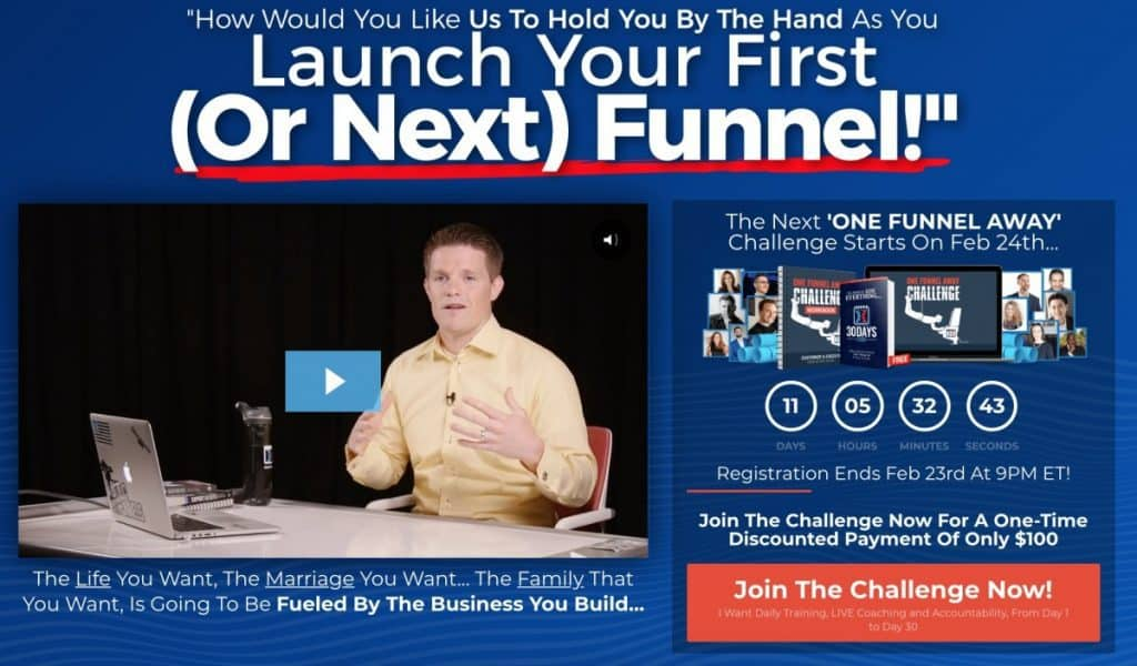 Russell Brunson Teaching The One Funnel Away Challenge